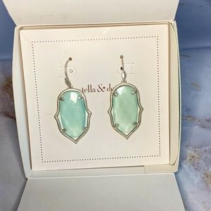 Stella & Dot Aqua Drop Earrings